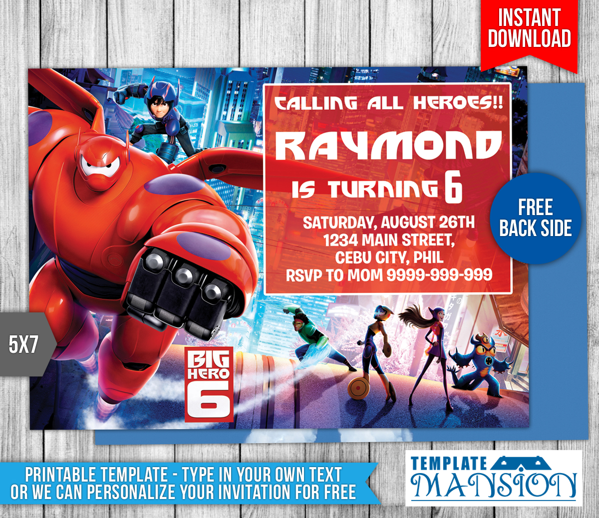 Big Hero 6 Birthday Invitation 2 By Templatemansion