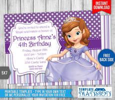 Sofia the First Birthday Invitation #3 by templatemansion