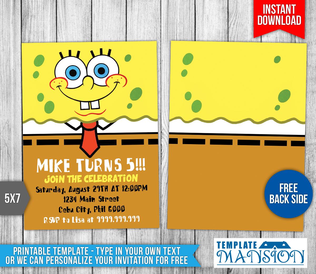 Spongebob Templates Free Spongebob Squarepants