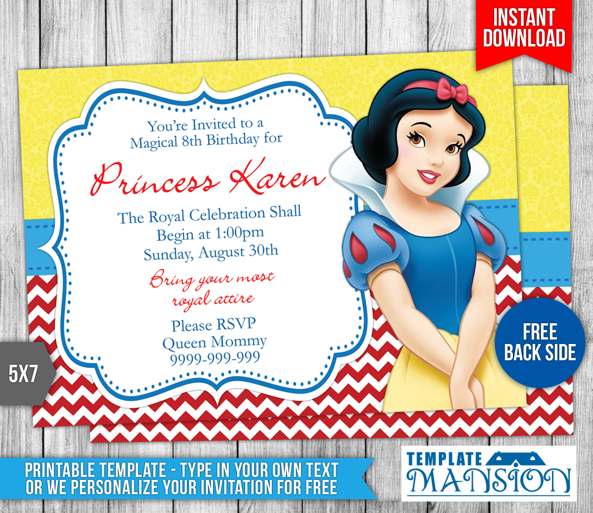 Snow White Birthday Invitations Gangcraft Net