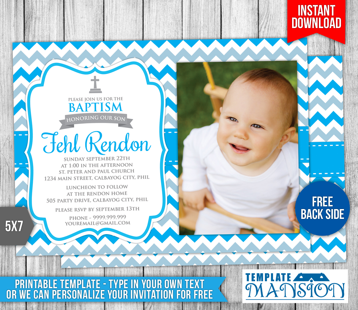 Boy Christening Invitation 2 By Templatemansion On Deviantart