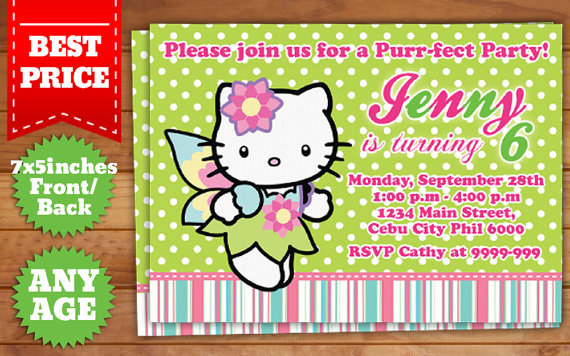 Hello kitty birthday invitation template 5 by templatemansion on hello kitty birthday invitation template 5 by templatemansion filmwisefo