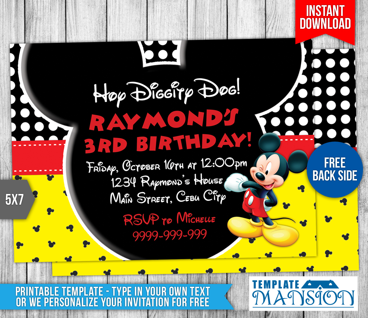 Mickey Mouse Birthday Invitations Oopsey Daisy - satukis.info