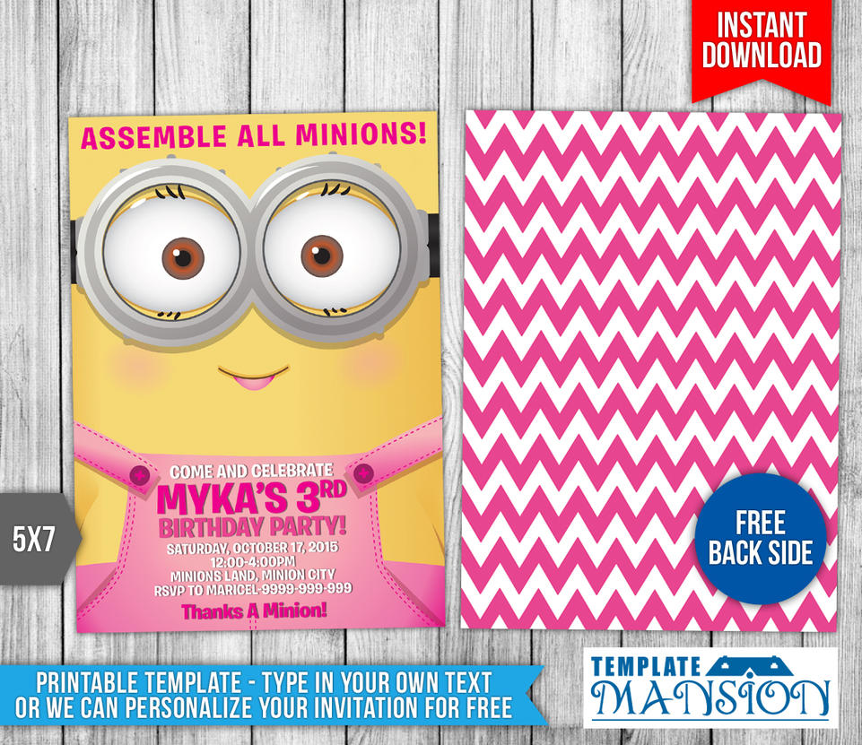 Minions Birthday Invitation with adorable invitations ideas