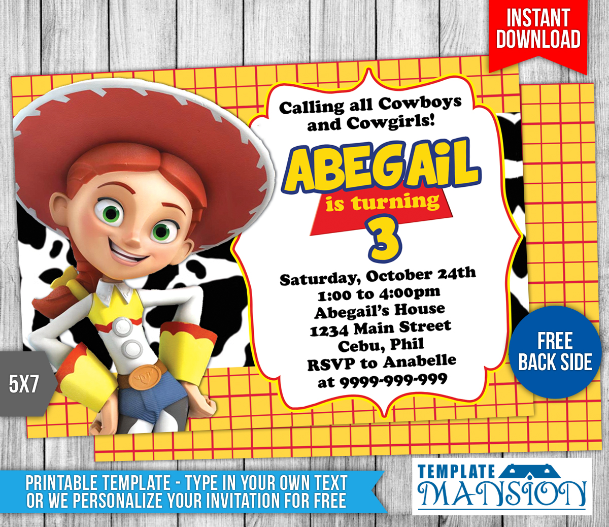 Toy story birthday invitation template 5 by for Toy story invites templates free
