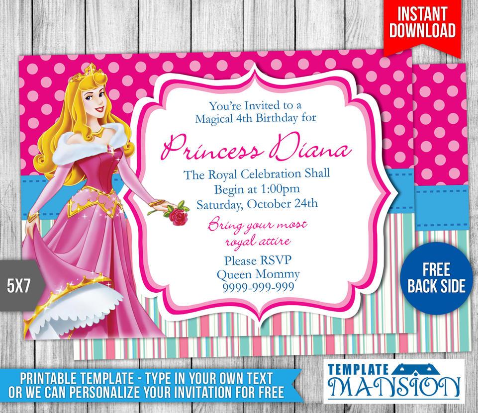 Disney princesses birthday invitation template 2 by templatemansion filmwisefo