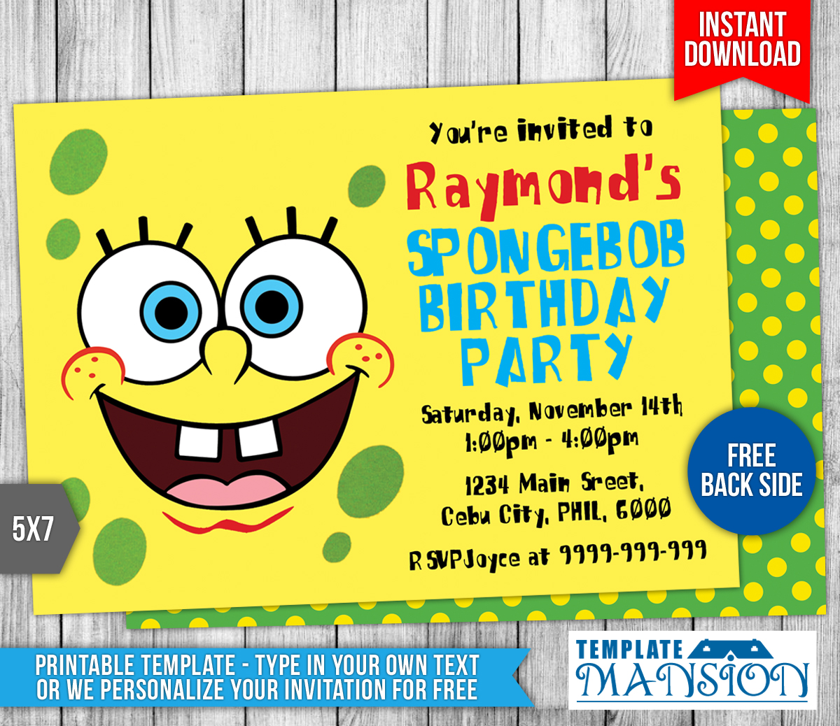 Spongebob Birthday Party Invitations with adorable invitation ideas