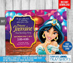Princess Jasmine Birthday Invitation Printable