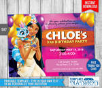 Pocahontas Birthday Invitation DIY Printable