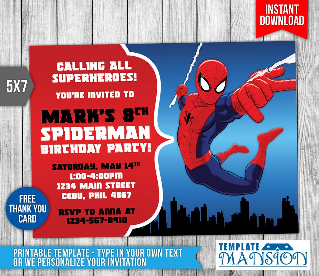 Spiderman Birthday Invite Futurecliminfo - Spiderman birthday invitation maker free