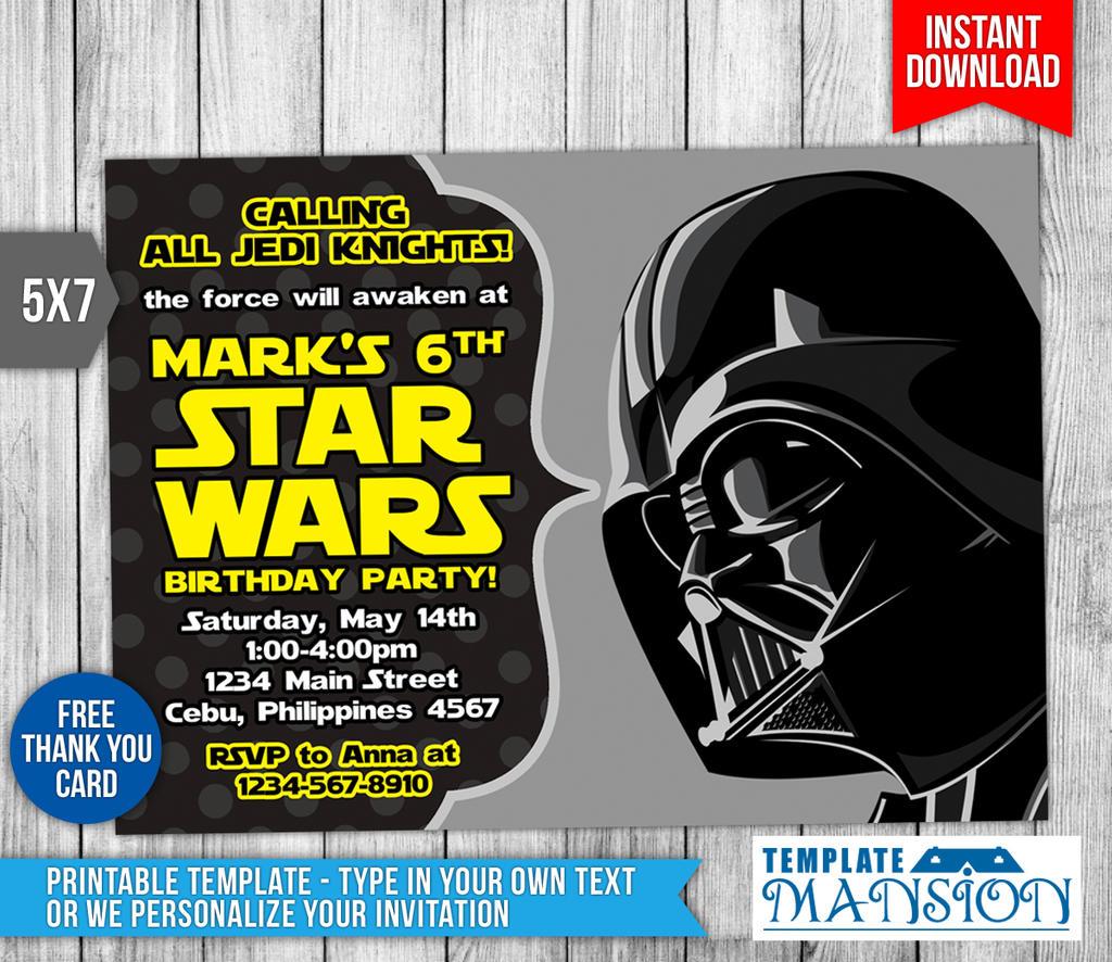 Star wars invitation birthday invitation psd by templatemansion on star wars invitation birthday invitation psd by templatemansion stopboris Images
