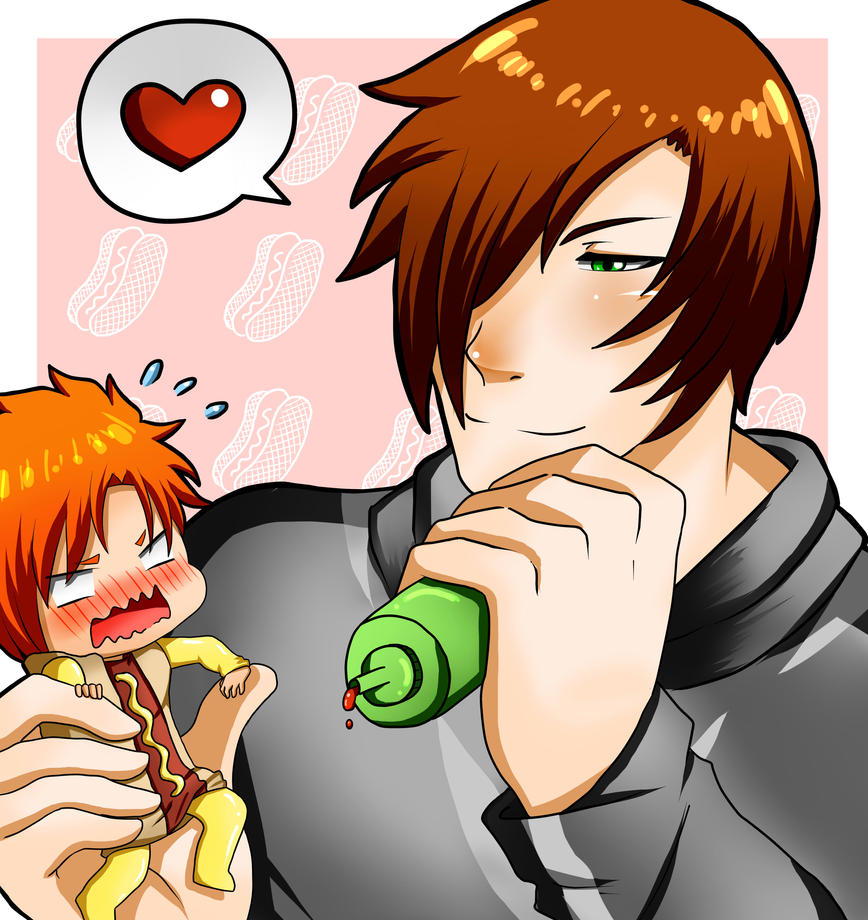 Galeria homo(? Digital y tradicional - Página 3 Hot_dog_tag__max_x_hexia_by_maxixus-daa8pd8