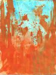 Blue Orange Splatter