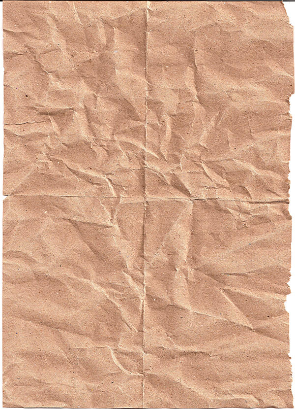 Crinkled Brown Paper