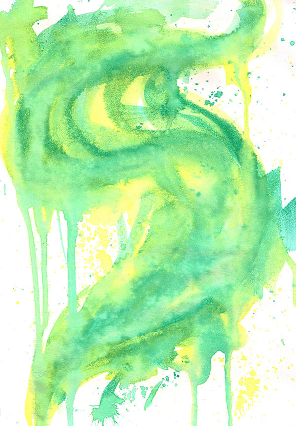 Green Watercolor Smoke by kizistock