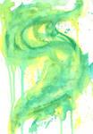 Green Watercolor Smoke
