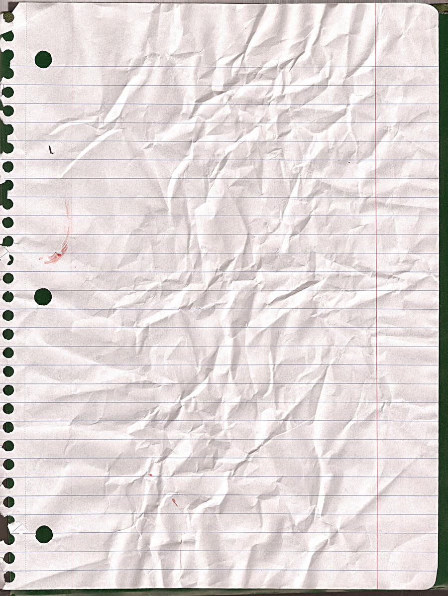 Crinkled Lined Paper by kizistock