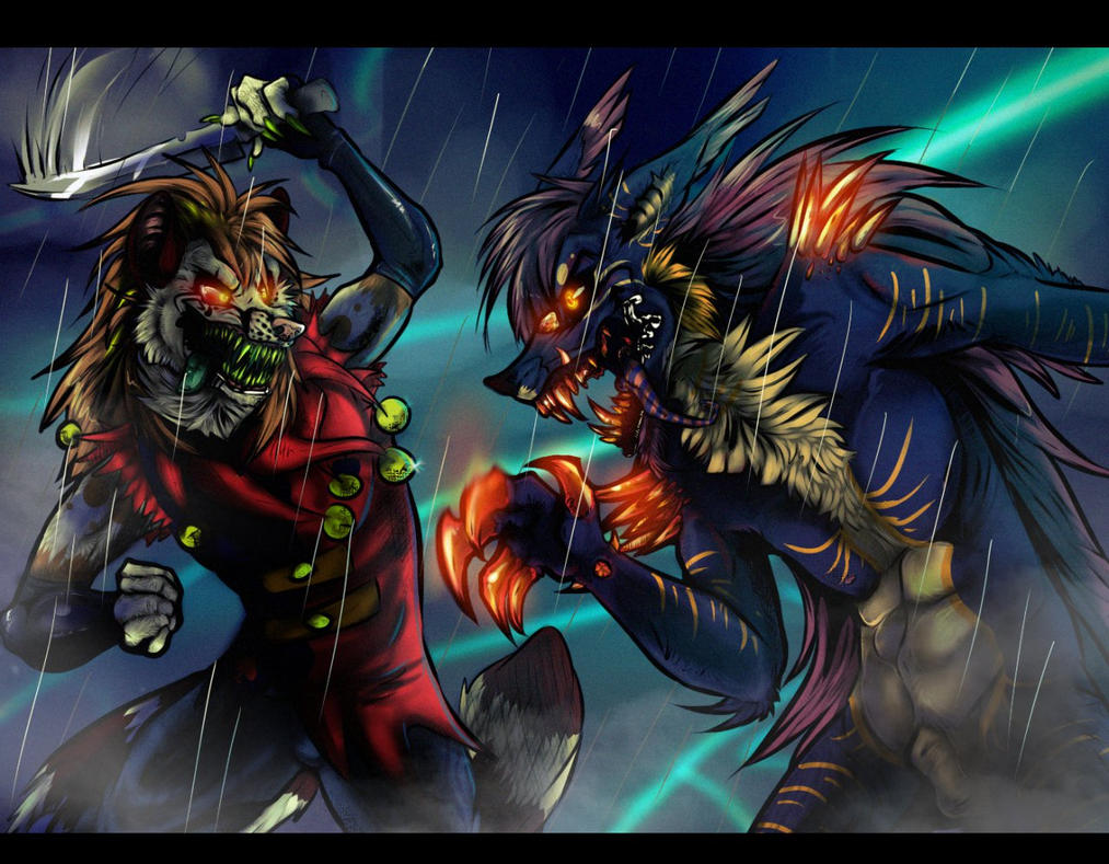 War of the demons [COLLAB with Lizheru] by azaskal