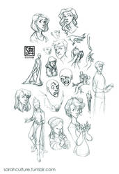 Sketch Dump 13 by SarahCulture