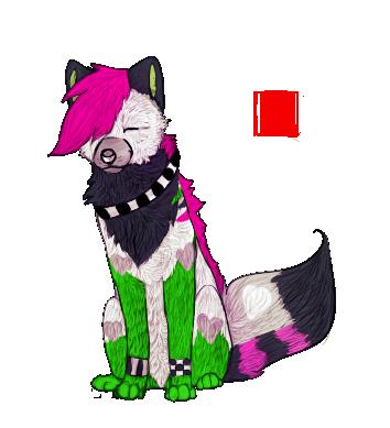 Flashy wolf by StupidRainbowFox