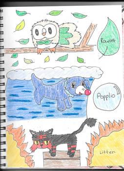 Pokemon Alolan Starters