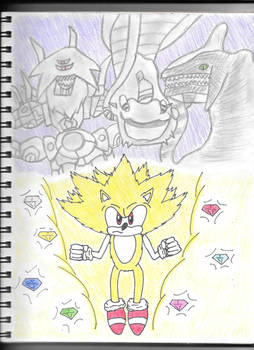 Super Sonic and enemies!