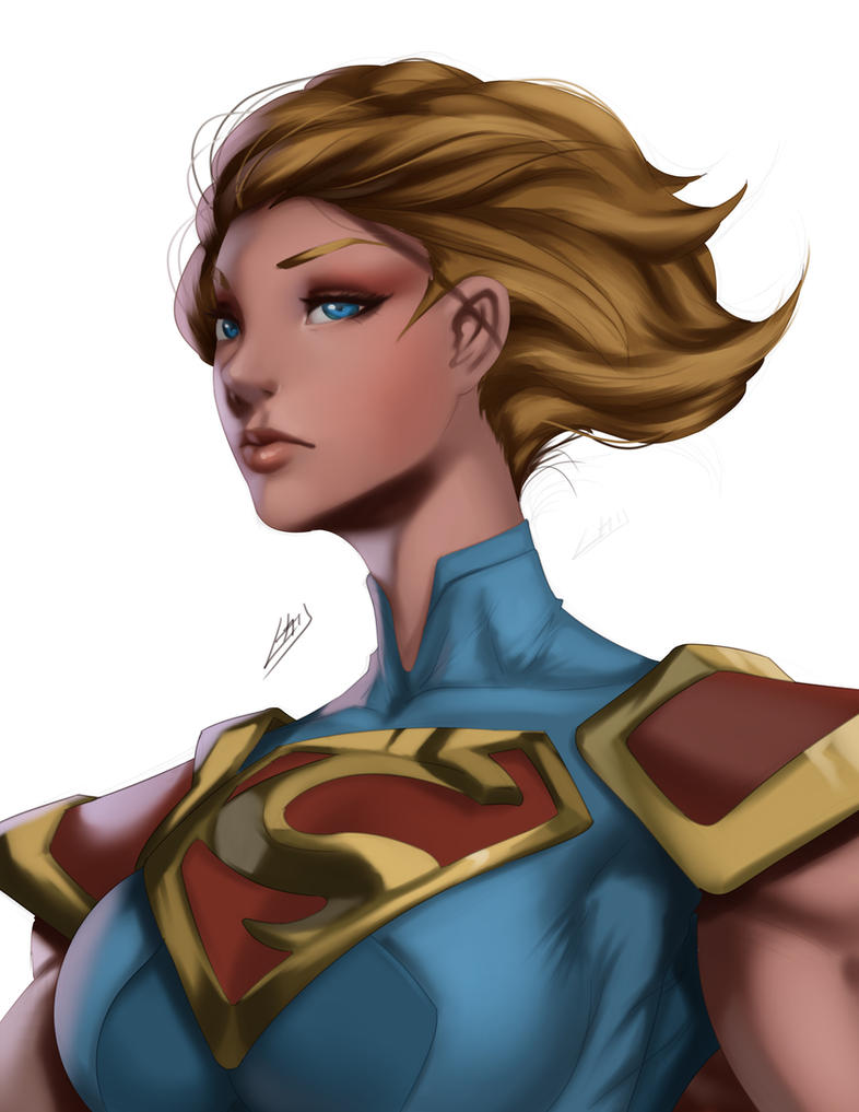 Super Girl portrait by iamHikari-kun