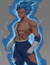 Super Vegeta Blue by iamHikari-kun