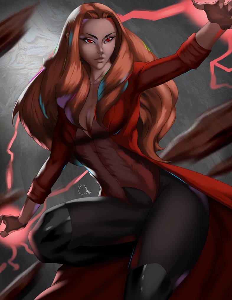 MCU - Scarlet Witch by iamHikari-kun