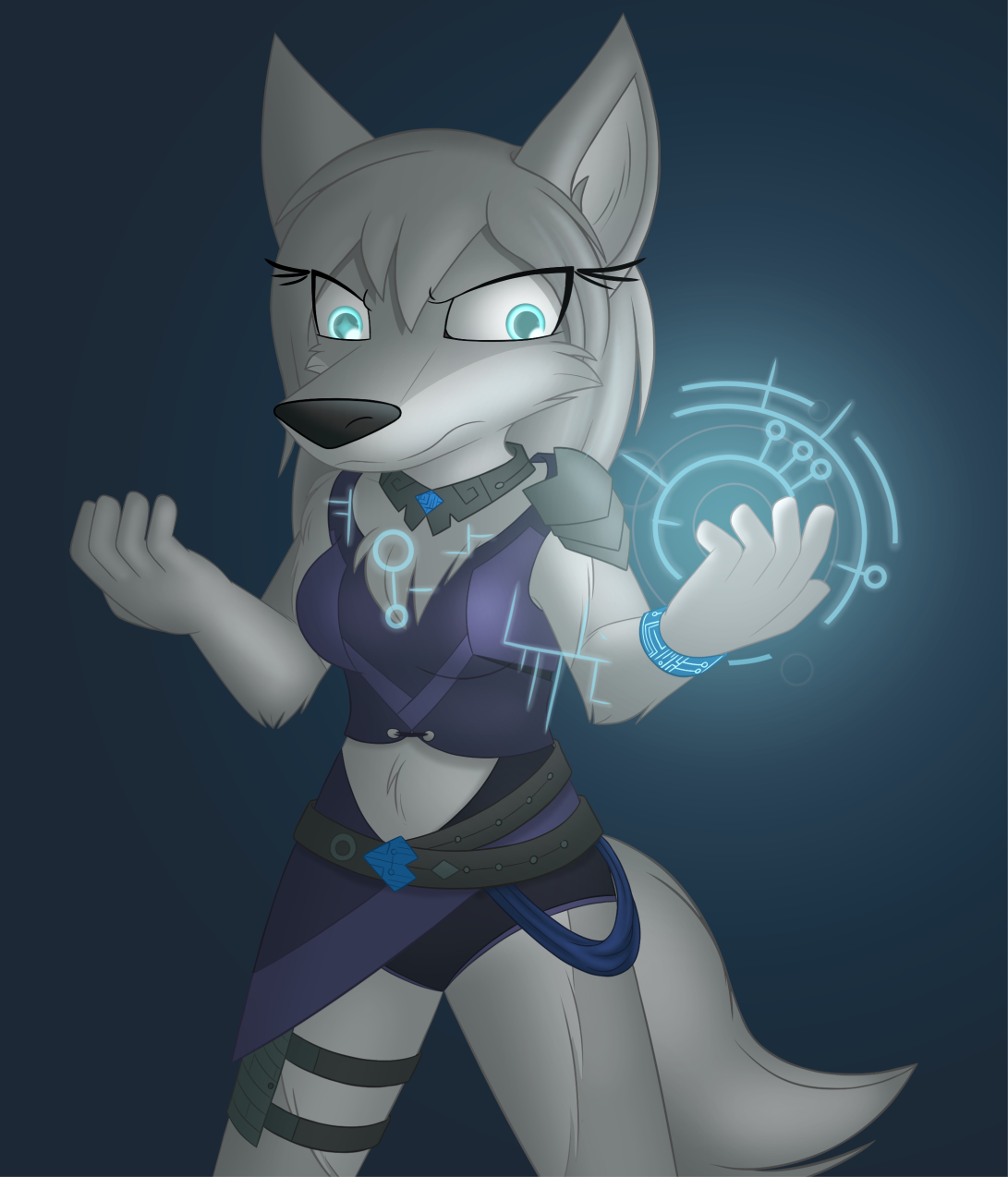 Data Mage Lupa by W0lfmare