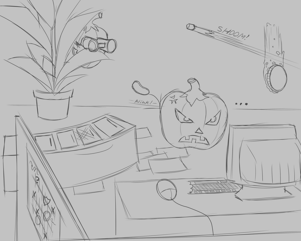 Pumpkins With Office Jobs 2 by W0lfmare