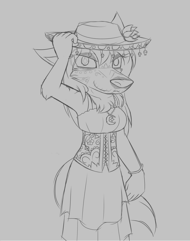 Day of the Dead Lupa by W0lfmare