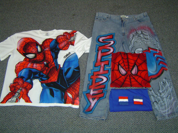 SpiderMan Airbrush Outfit by