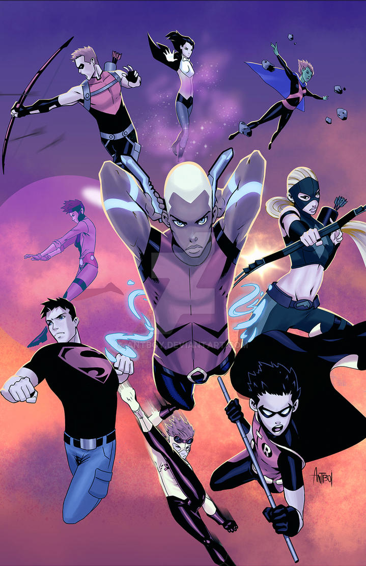 Young Justice: Season 1 Print by Antboy