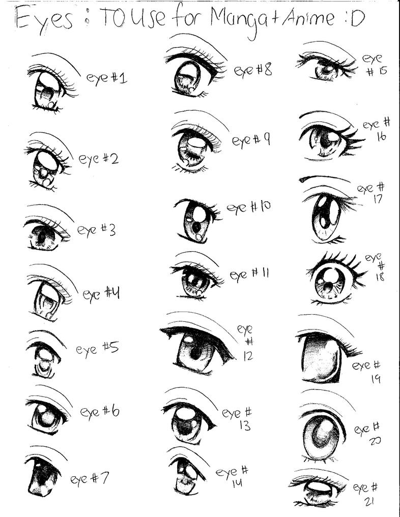 Anime Eyes By Rosepeddel101