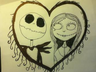 Jack and Sally by adawongxxxrikku