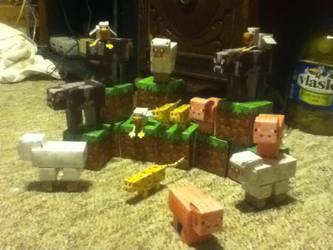 Minecraft- animal mob paper craft pack by adawongxxxrikku