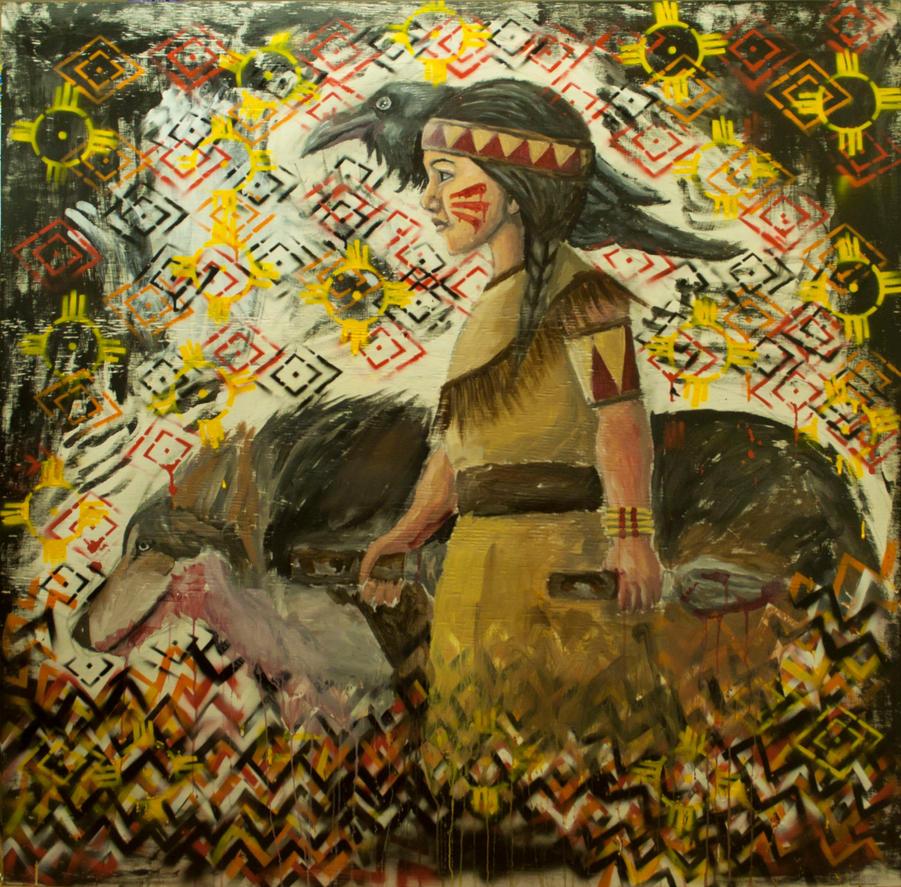 Wolf girl by VantelTurner