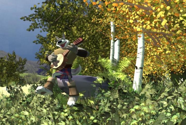 Ulfgar playing banjo by Ladylau