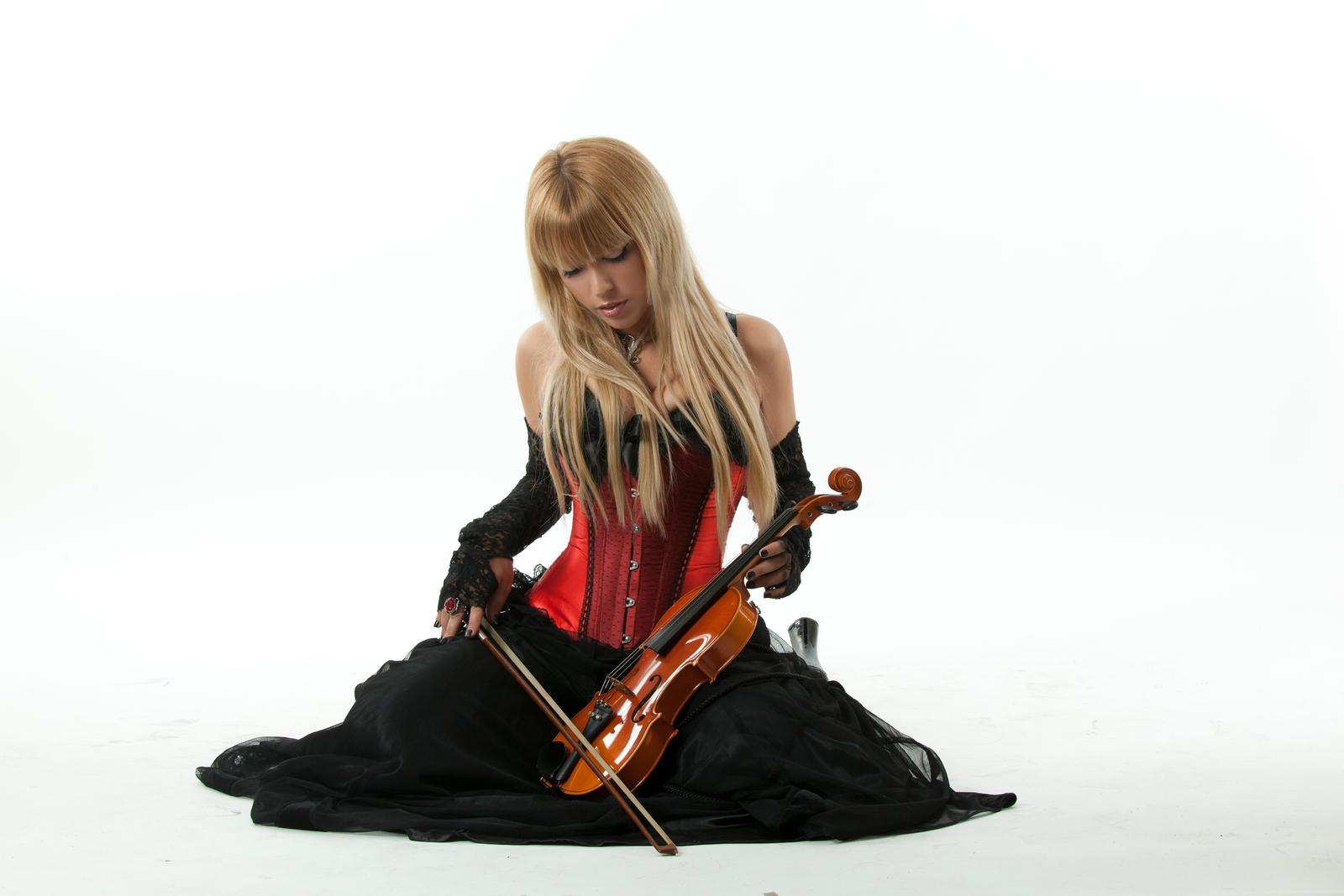 Tanit-Isis Red Corset Violin
