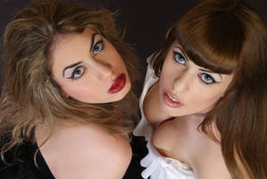 Good and Evil Portrait close up stock by tanit-isis-stock