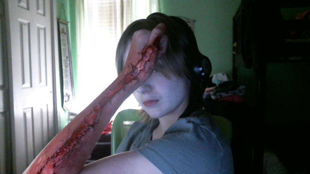 Cut Down The Arm Makeup By ShirubaKitsune On DeviantArt