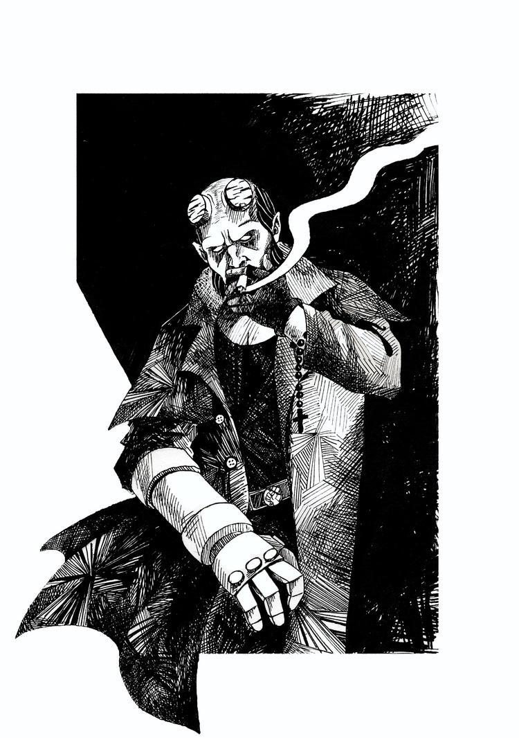 Hellboy by Glutiam