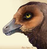 Velociraptor portrait by p-tjones