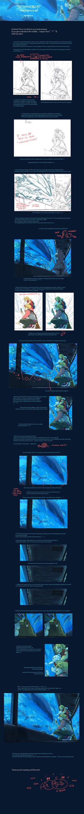 'It's better Blue' Work process by hakumo