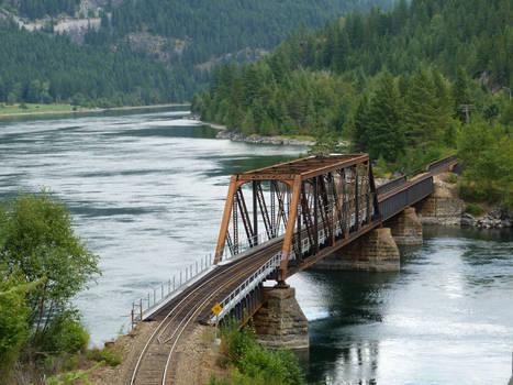 Kootenay River Railway Bridge Railroad