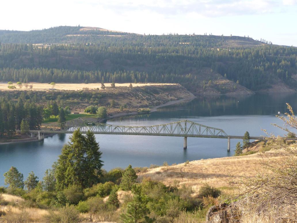Fort Spokane Bridge by historicbridges