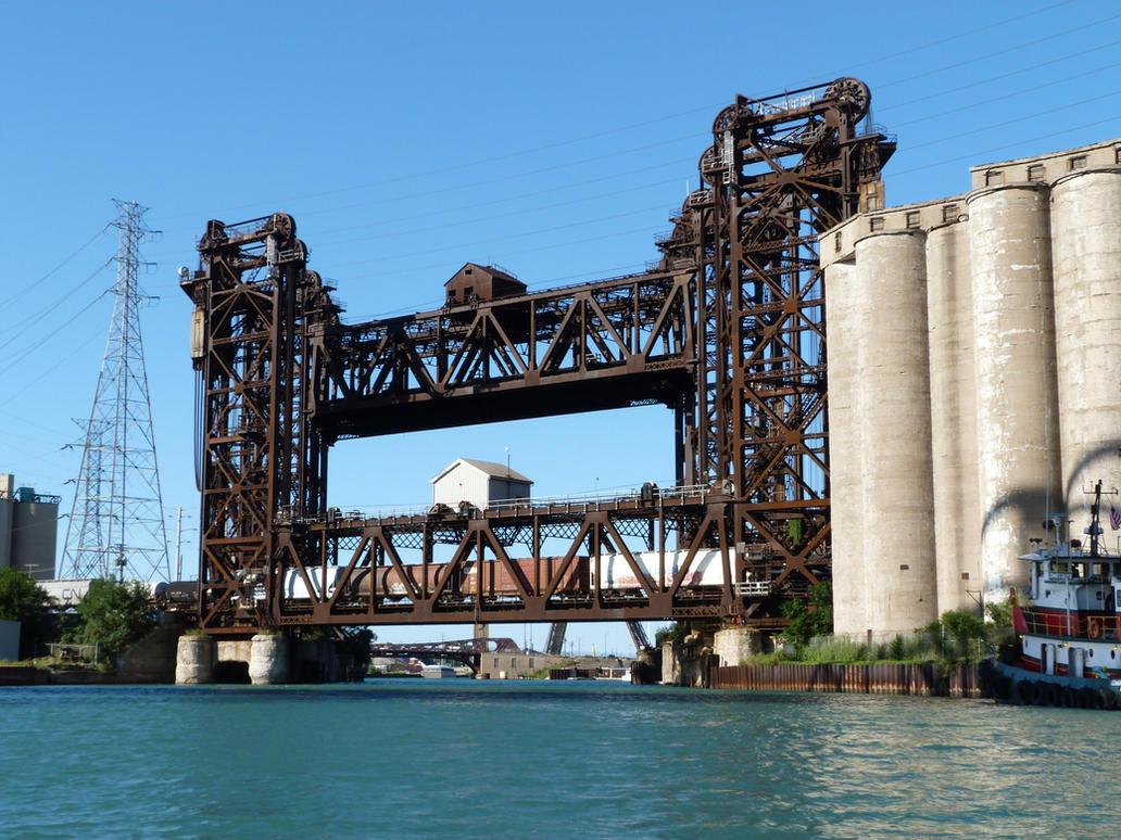 Calumet River Norfolk Southern Railroad Bridge 1 by historicbridges