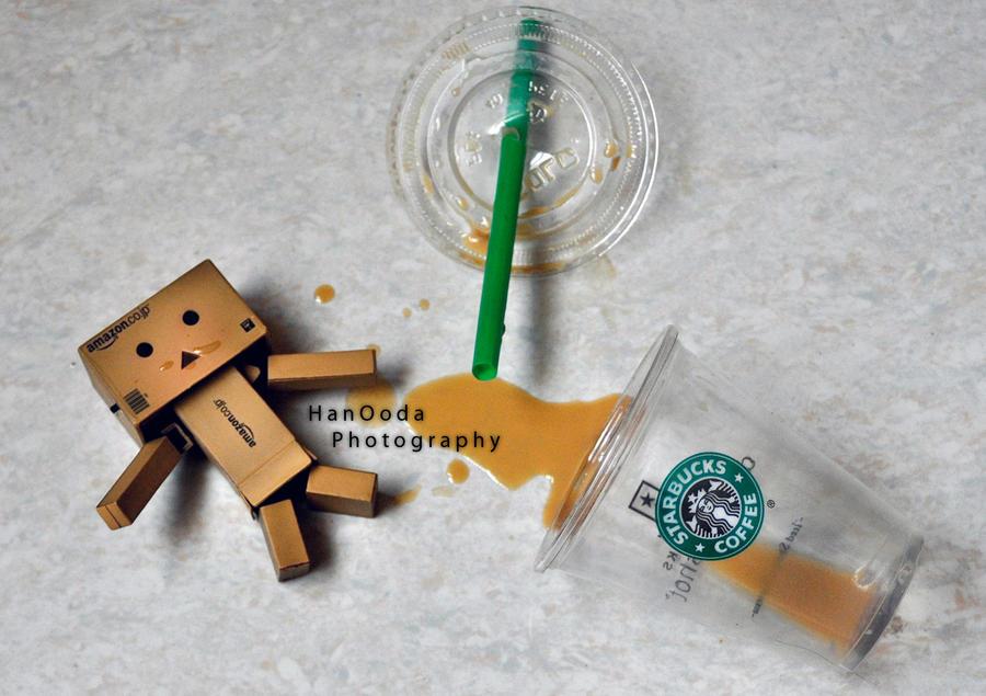 Starbucks Danbo by HindAlAmeri