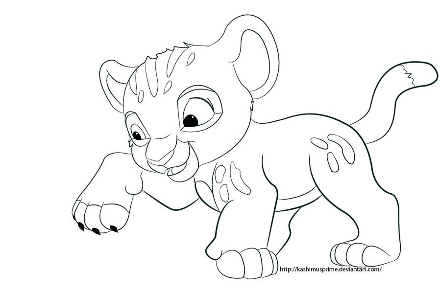 Sketch Baby Simba Coloring Pages Baby Simba Coloring Pages
